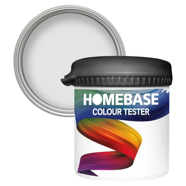 Homebase Matt Colour Paint Tester - White Tundra 90ml