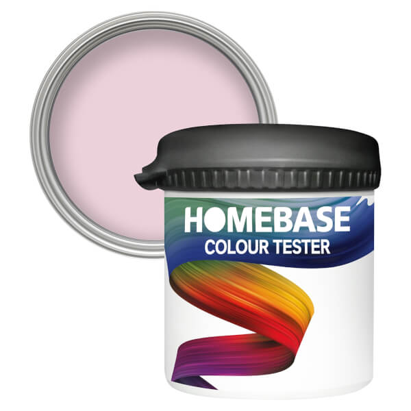 Homebase Matt Colour Paint Tester - Angel Pink 90ml