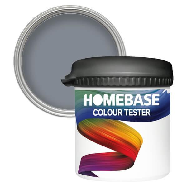 Homebase Matt Colour Paint Tester - Stormy Sky 90ml