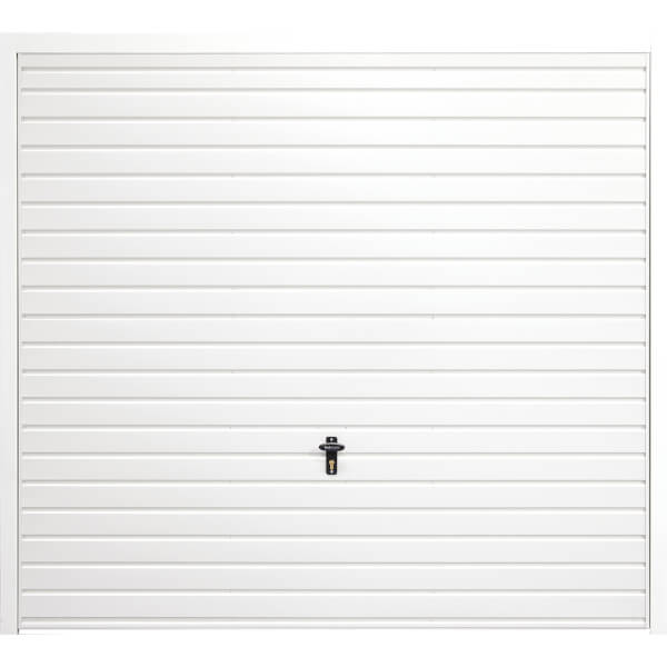 Horizontal 8' x 7' Framed Steel Garage Door White