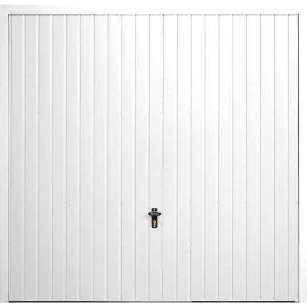 Vertical 7' 6  x 6' 6  Framed Steel Garage Door White