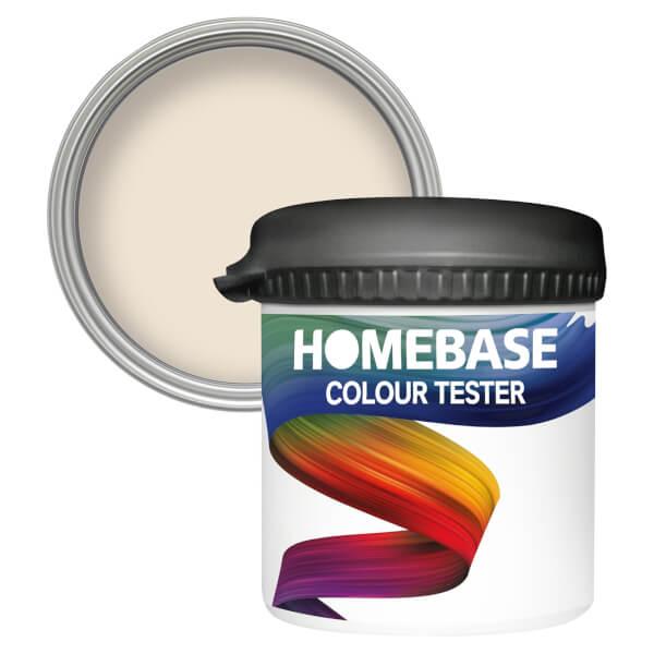 Homebase Matt Colour Paint Tester - Biscuit 90ml