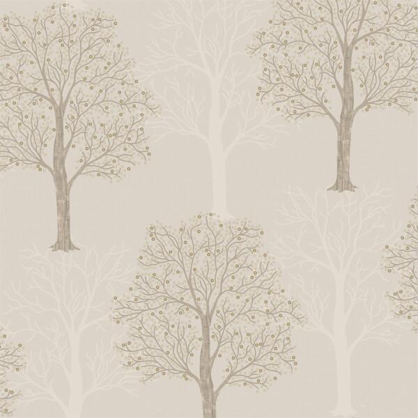 Holden Decor Ornella Tree Embossed Metallic Taupe Wallpaper