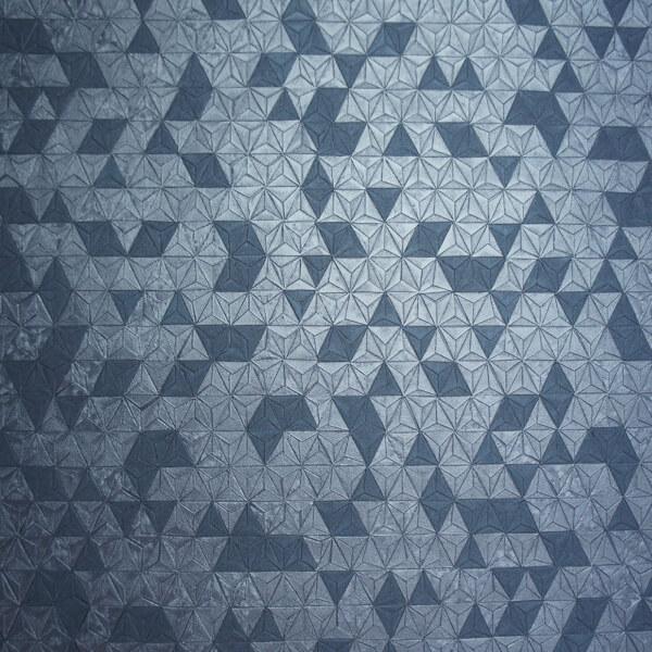 Holden Decor Origami Geometric Embossed Metallic Navy Wallpaper