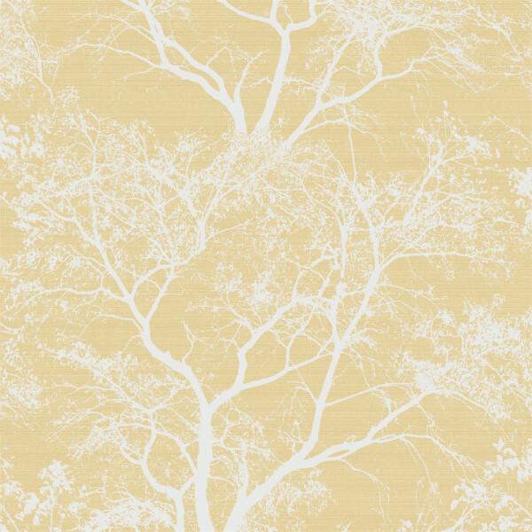 Holden Decor Whispering Trees Textured Metallic Glitter Yellow Wallpaper
