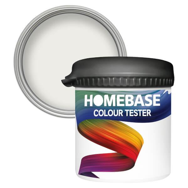 Homebase Matt Colour Paint Tester - Crystal Light 90ml