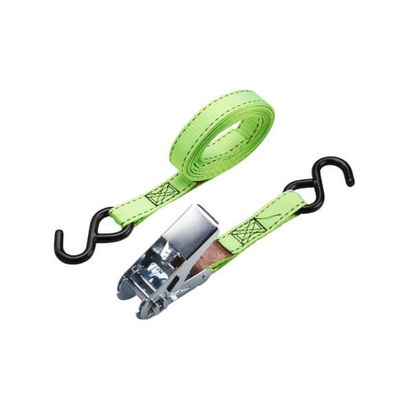 250kg S-Hook Ratchet Tie Down 25mmx4m