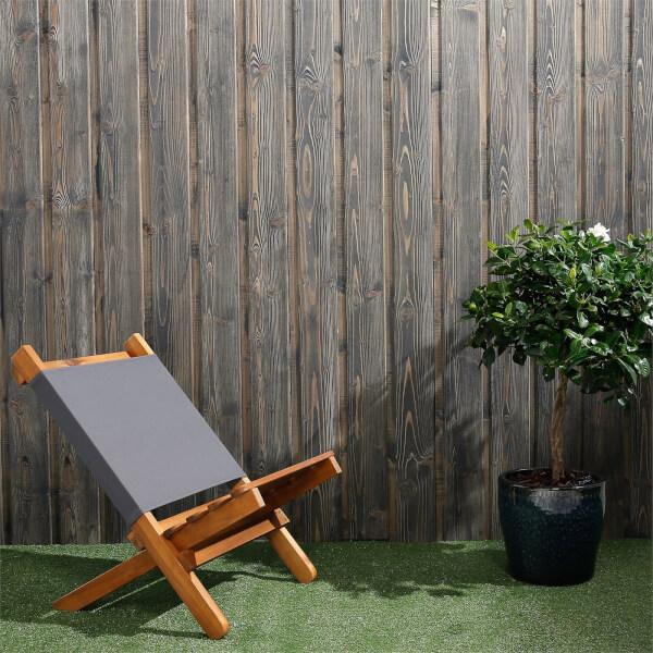 Premium Timber Cladding SertiWOOD Viking Anthracite Grey Secret Fix (6 Pack) 1.72m2