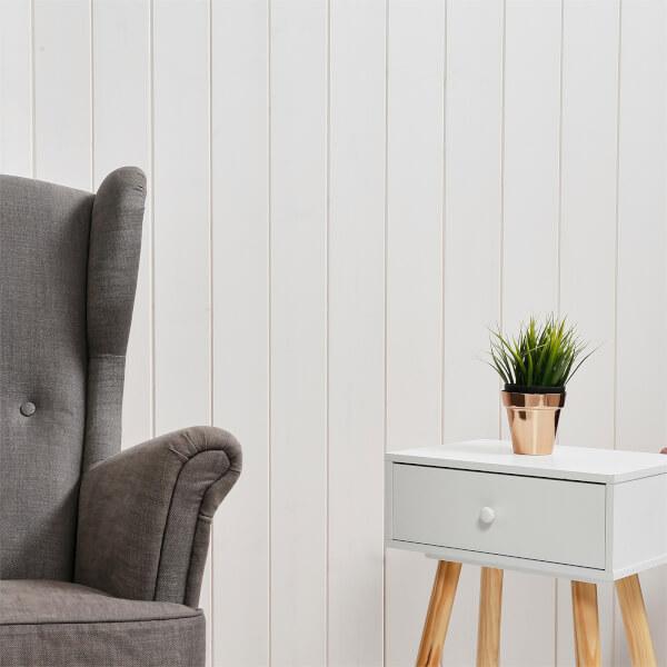 Premium Timber Cladding SertiWOOD White Wax - White Wash  (8 Pack) 2.10m2