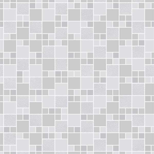 Holden Decor Trivola Tile Embossed Metallic Glitter Grey Wallpaper