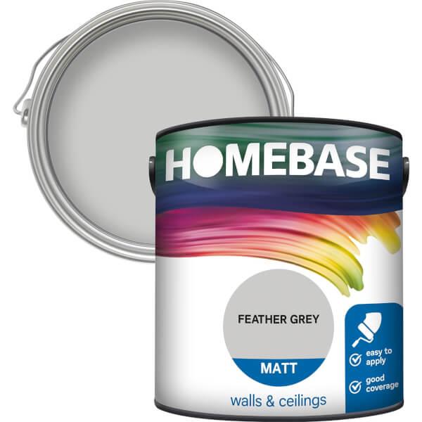 Homebase Matt Paint - Feather Grey 2.5L