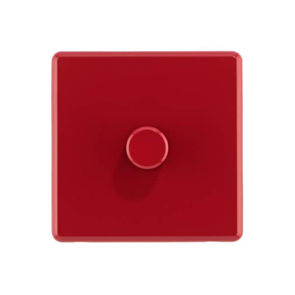 Arlec Rocker 1 Gang 2 Way Cherry Red Dimmer switch