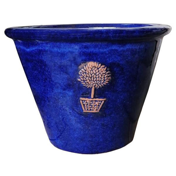 Glazed Rimmed Bay Tree Logo Pot 30cm