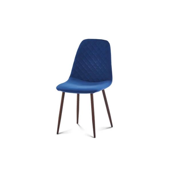 Perth Velvet Diamond Back Dining Chair - Set of 2 - Navy