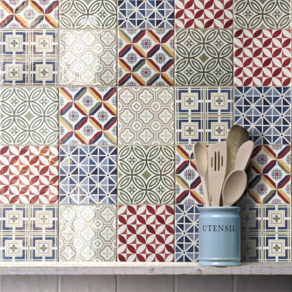 Countryside Patchwork Wall Tile - 132 x 132mm