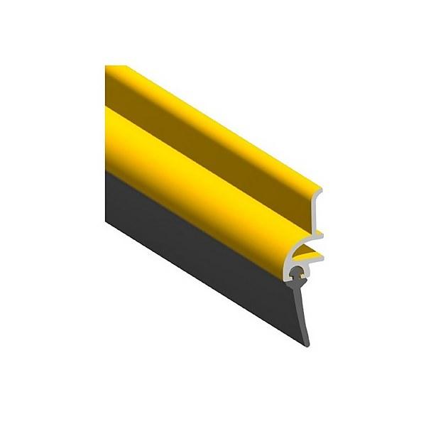 Stormguard Rubber Door Bottom Strip Draught Excluder - Gold Effect