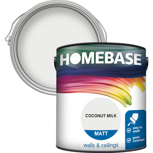 Homebase Matt Paint - Coconut Milk 2.5L
