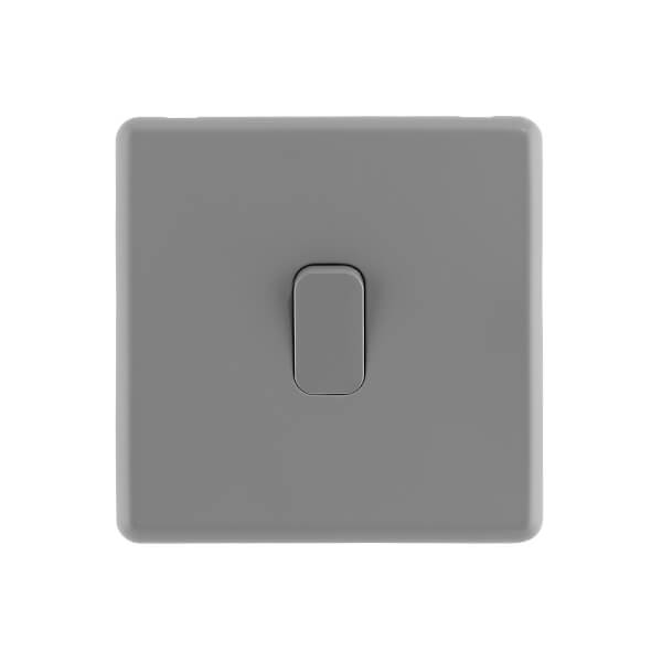 Arlec Rocker 10A 1Gang 2Way Stone Grey Single light switch