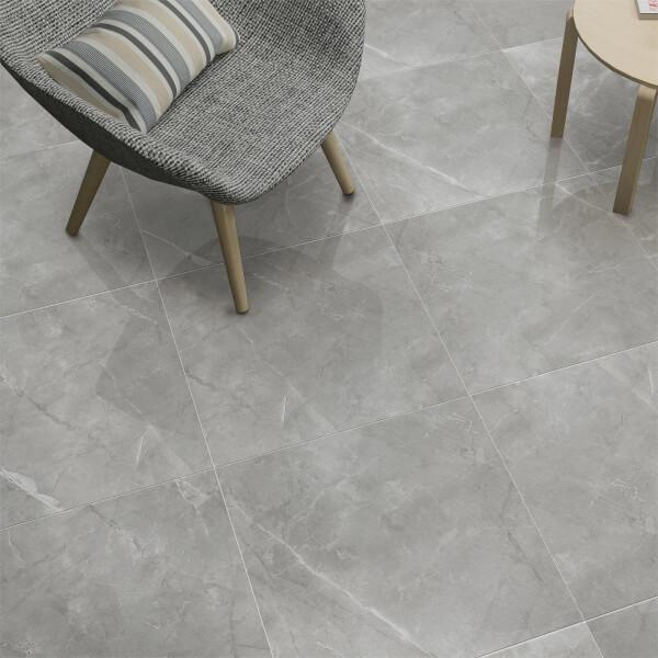 Lux Arctic Grey Polished Floor Tiles - 60x60cm