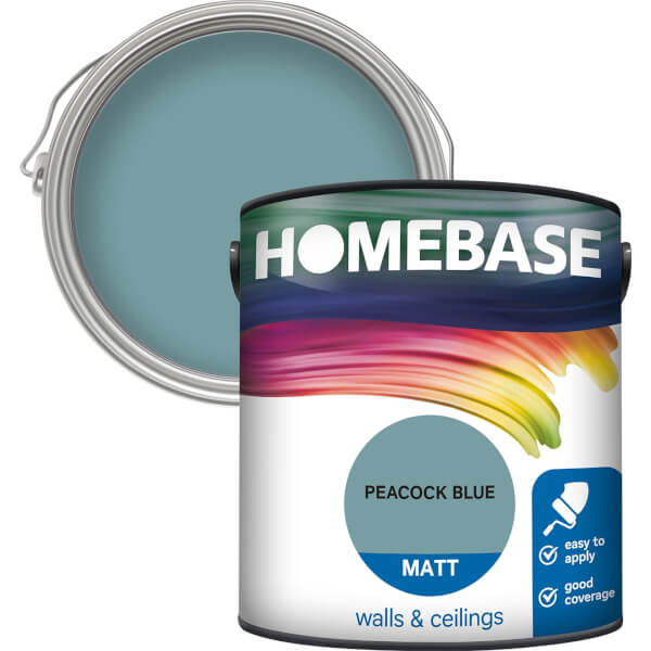 Homebase Matt Paint - Peacock Blue 2.5L