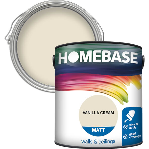 Homebase Matt Paint - Vanilla Cream 2.5L