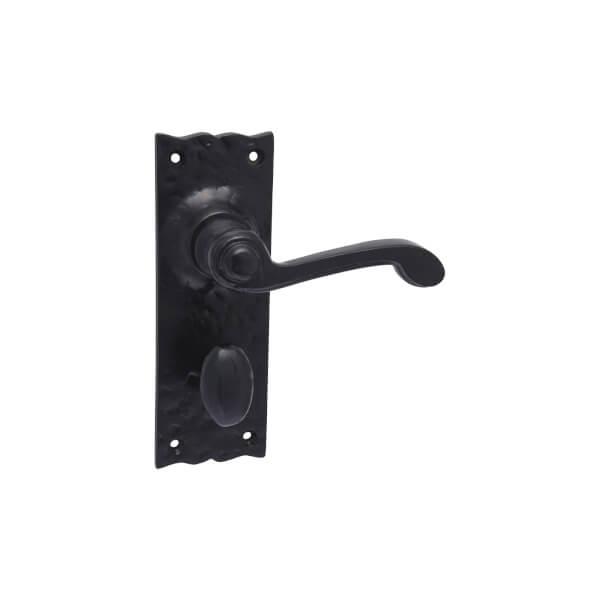 Sandleford Ludlow Bathroom Lever Set - Black Iron