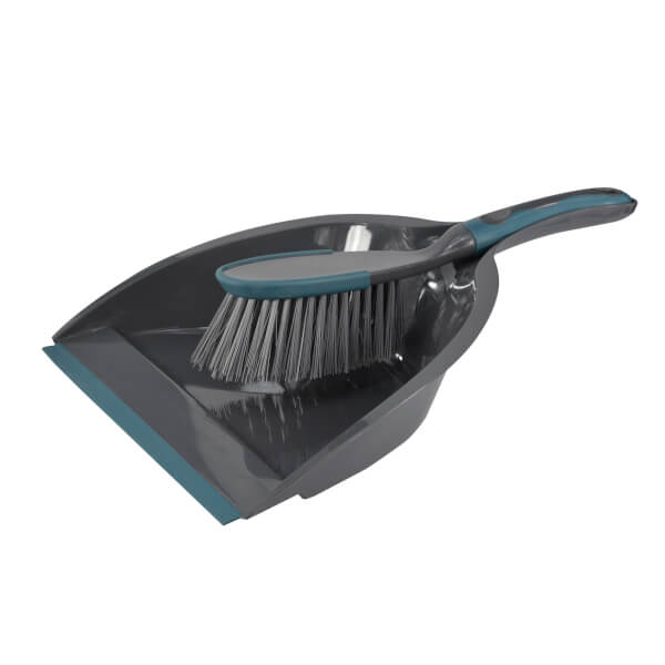 Dustpan & Brush with Soft Grip Handle