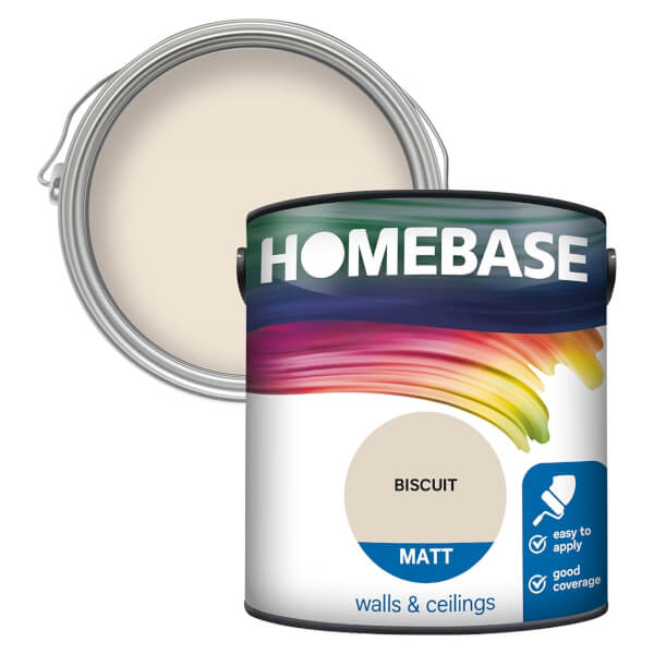Homebase Matt Paint - Biscuit 2.5L