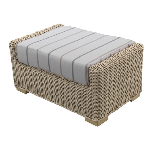 Burford Footstool In Linen Taupe