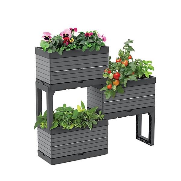 Modular Planter Set in Grey