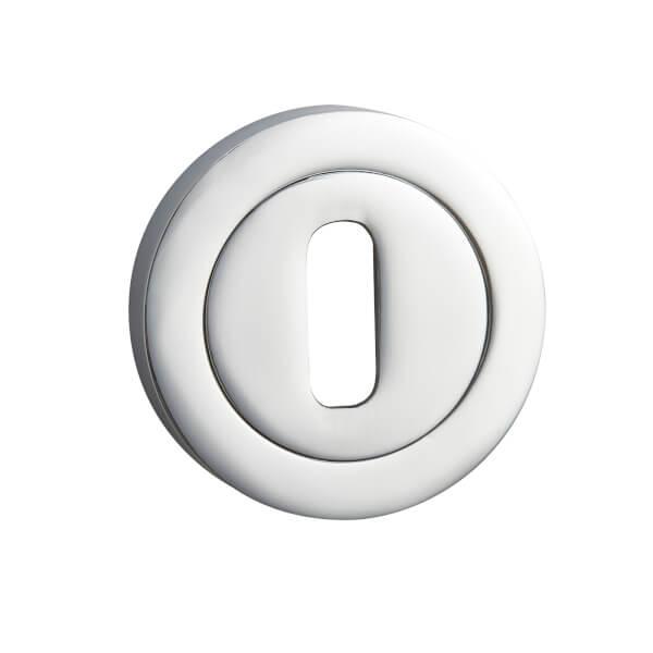 Sandleford Round Keyhole Escutcheon - Polished Chrome