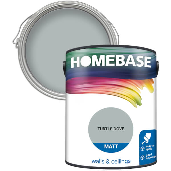Homebase Matt Paint - Turtle Dove 5L