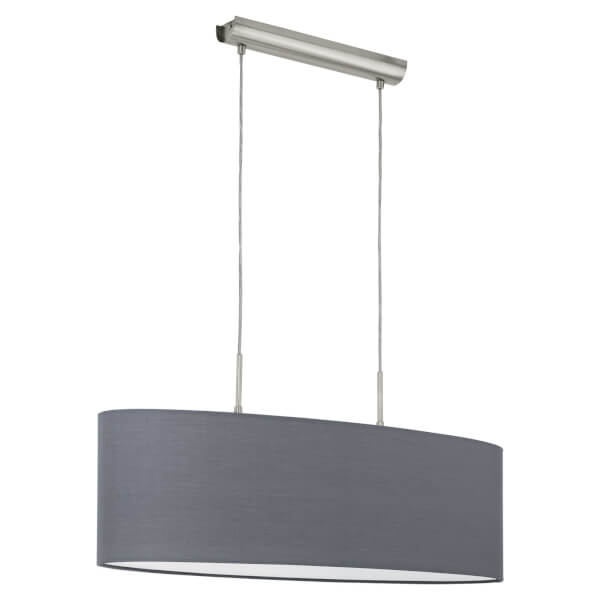Eglo Pasteri 2 Light Pendant Light - Grey