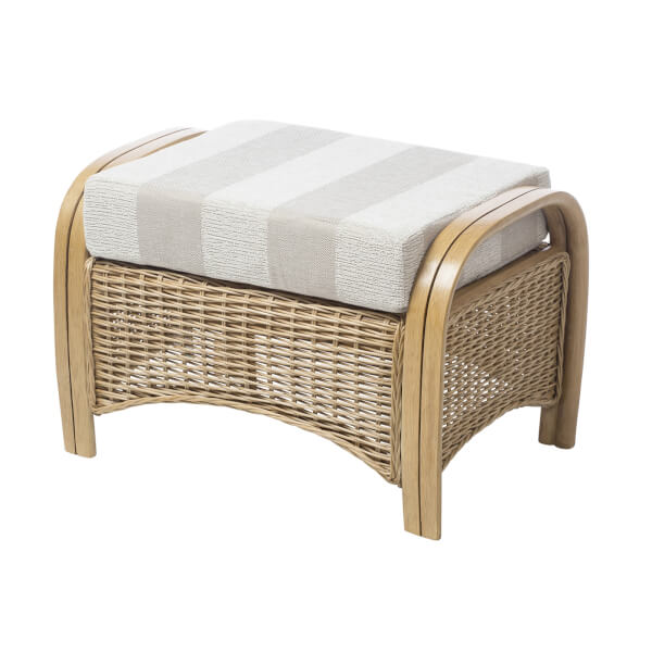 Centurion Footstool In Oatmeal
