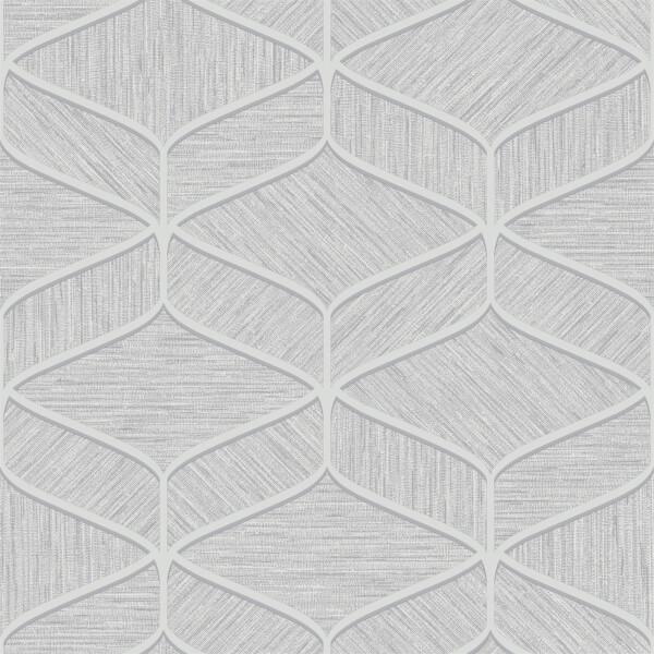 Belgravia Decor Luciano Geometric Embossed Metallic Grey Wallpaper