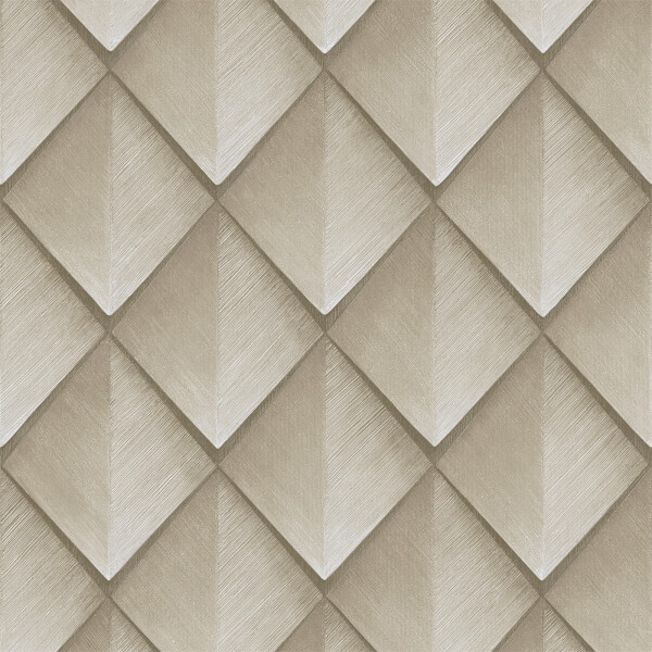 Belgravia Decor Callisto Geometric Embossed Metallic Ivory Wallpaper