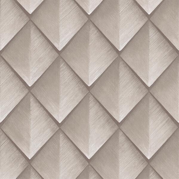 Belgravia Decor Callisto Geometric Embossed Metallic Rose Gold Wallpaper