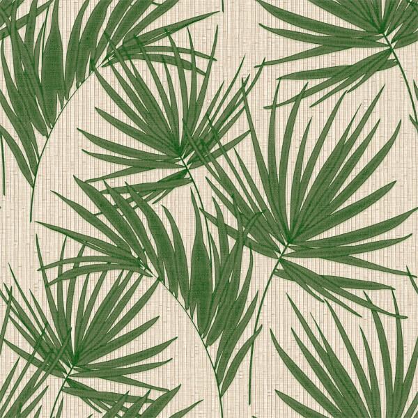 Belgravia Decor Aurora Palm Embossed Metallic Green Wallpaper