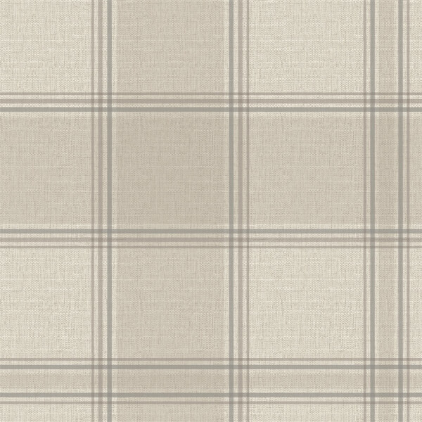 Belgravia Decor Giorgio Tartan Embossed Metallic Beige Wallpaper