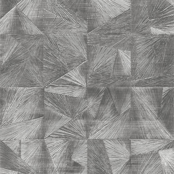 Belgravia Decor Caprice Geometric Embossed Metallic Pewter Wallpaper