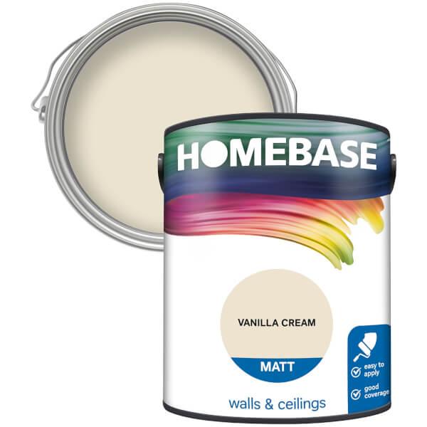 Homebase Matt Paint - Vanilla Cream 5L