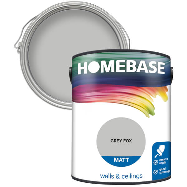 Homebase Matt Paint - Grey Fox 5L