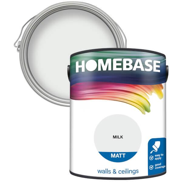 Homebase Matt Paint - Milk 5L