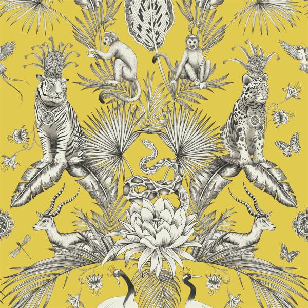 Belgravia Decor Menagerie Animal Smooth Yellow Wallpaper