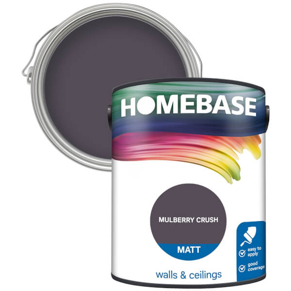 Homebase Matt Paint - Mulberry Crush 5L