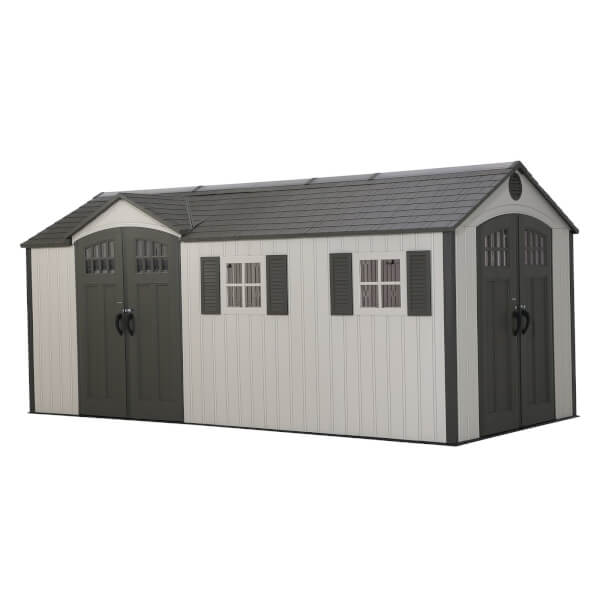 Lifetime 17.5x8 ft Dual Entry Outdoor Storage Shed