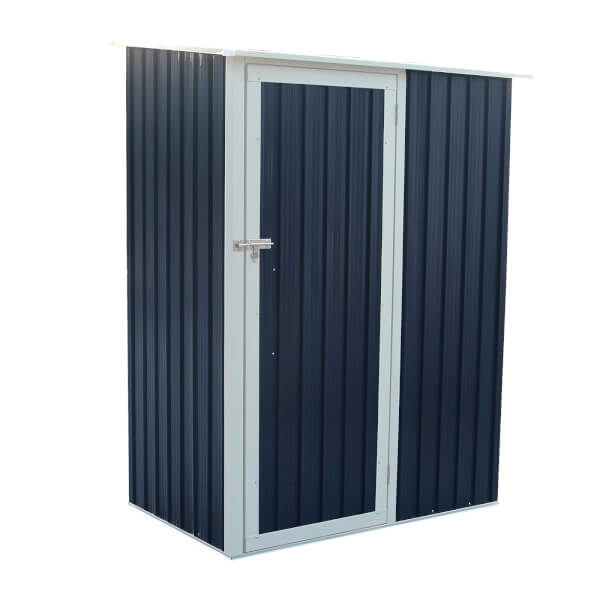 Charles Bentley 4.7ft x 3ft Grey Metal Storage Shed