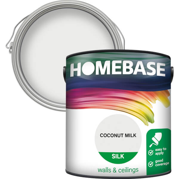 Homebase Silk Paint - Coconut Milk 2.5L
