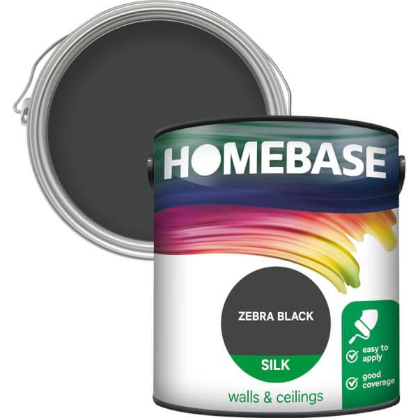 Homebase Silk Paint - Zebra Black 2.5L