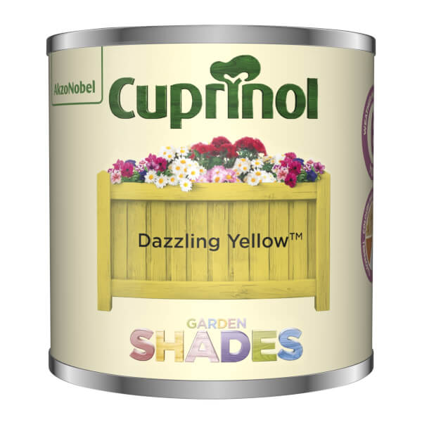 Cuprinol Garden Shades Tester - Dazzling Yellow - 125ml